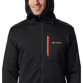 Columbia Tech Trail Capuchon Trui met Doorlopende Rits Heren, black